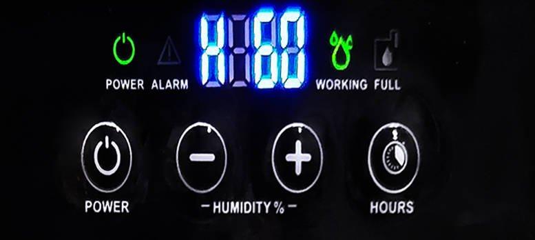 Master DH 44 - regulacja wilgotności