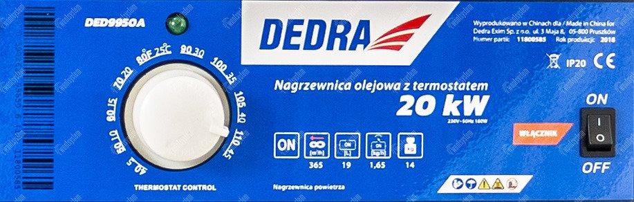 dedra ded9950a - panel sterujący
