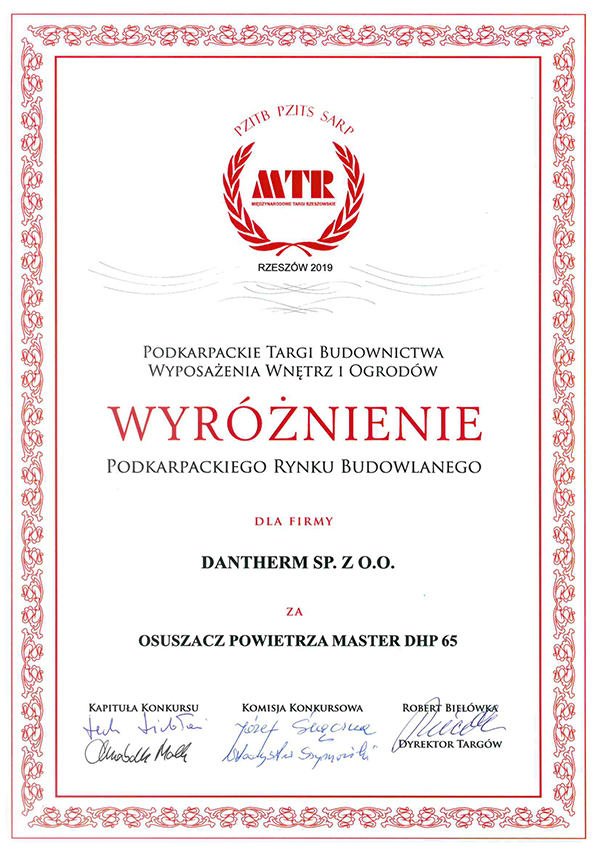certyfikat dla master dhp 65