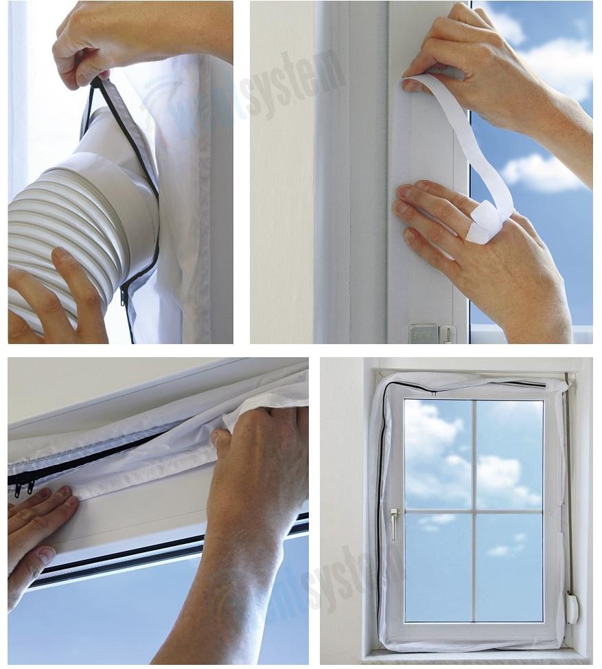 wypełnienie okna do przenośnych klimatyzatorów