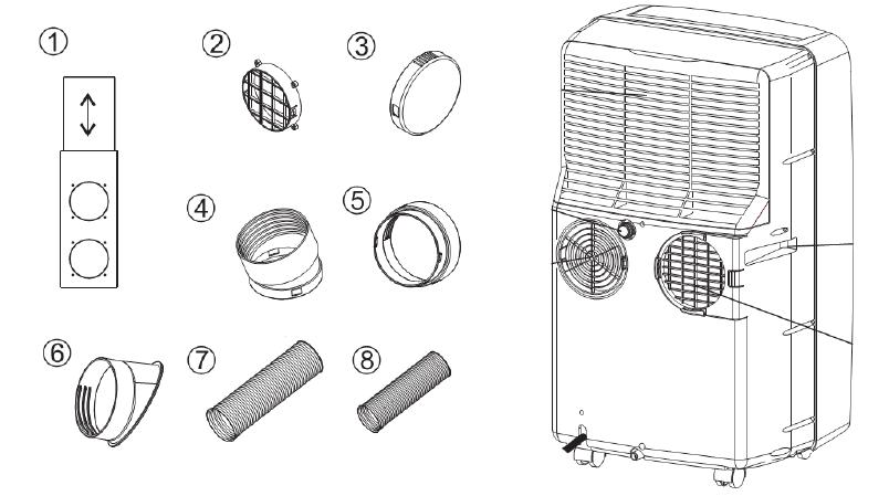 Klimatyzator Fral FSC13T akcesoria