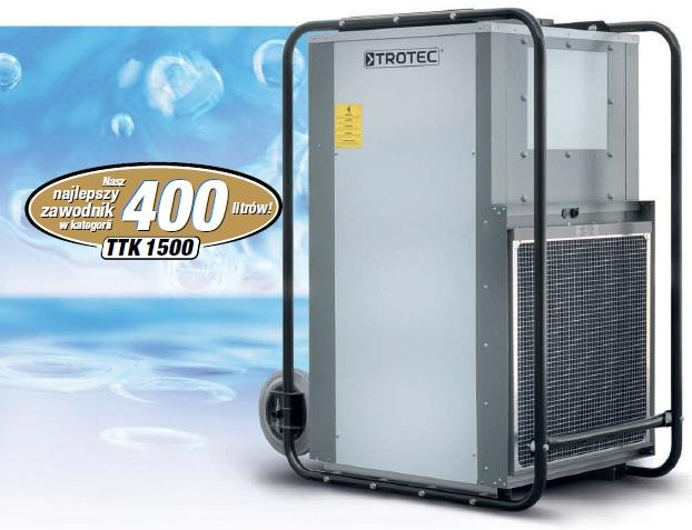 Budowlany osuszacz powietrza TROTEC TTK 1500