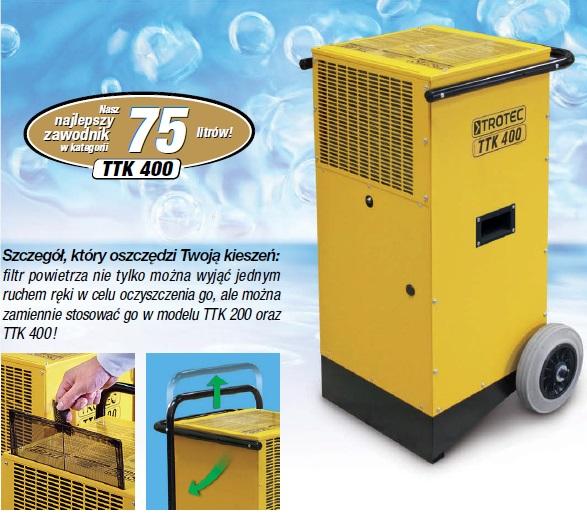 Budowlany osuszacz powietrza TROTEC TTK 400