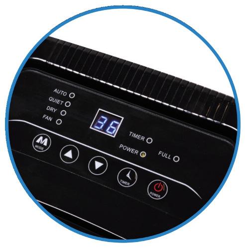 Osuszacz Dedra DED9902 - panel sterowania