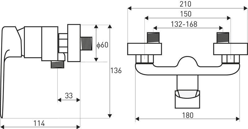 Bateria łazienkowa umywalkowa Maroko MA 11