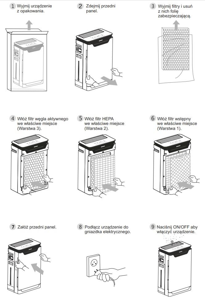 Instalacja oczyszczacza Warmtec AP350W