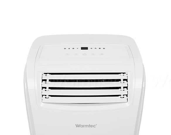 klimatyzator pokojowy warmtec kp35w - panel dotykowy